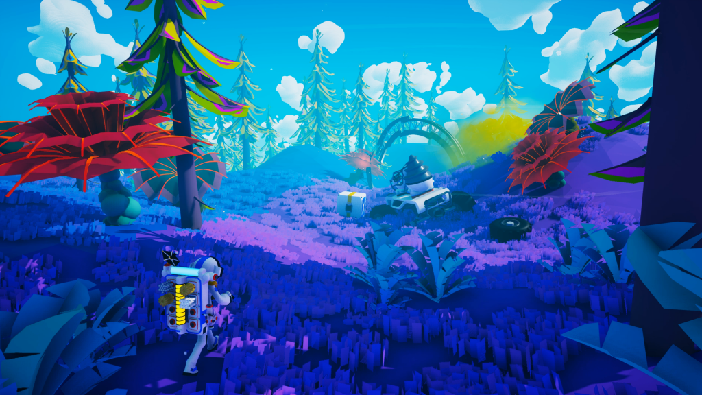 One of the many planets in Astroneer