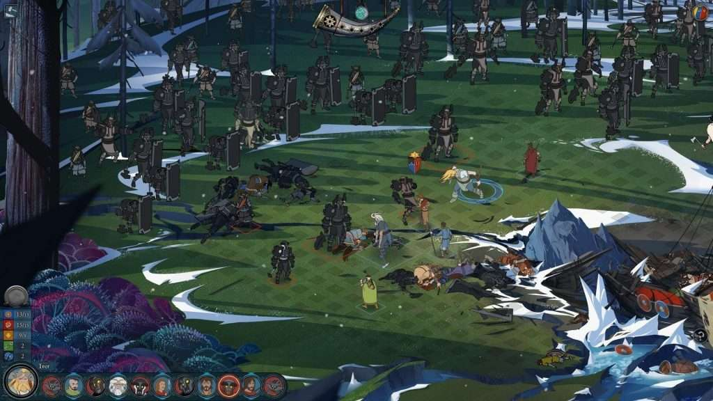 The Banner Saga 2 turn-based combat