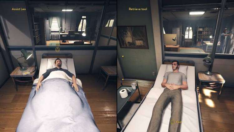 A way out game review hospital scene