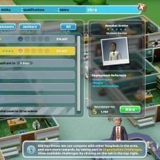 Two Point Hospital Staff Hire Screen