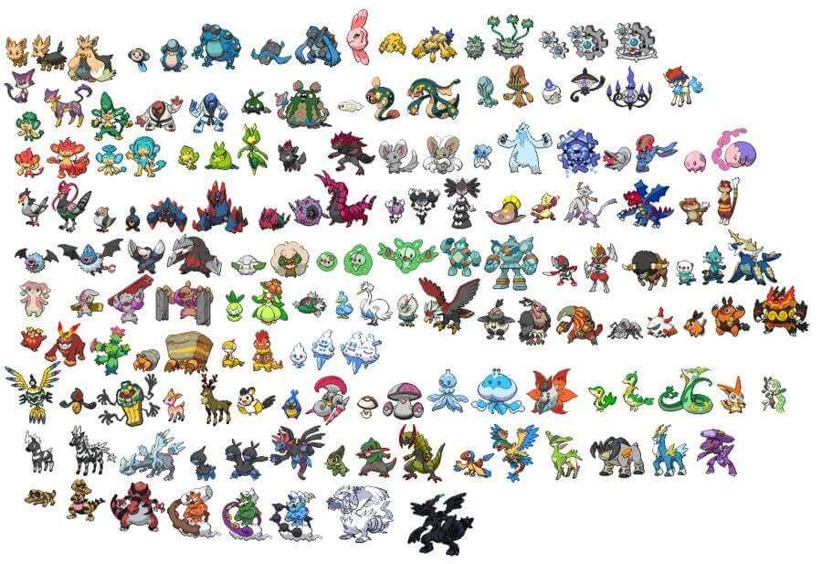 pokemon gen 5 list