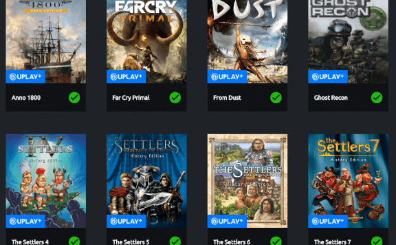 uPlay Plus Games Library