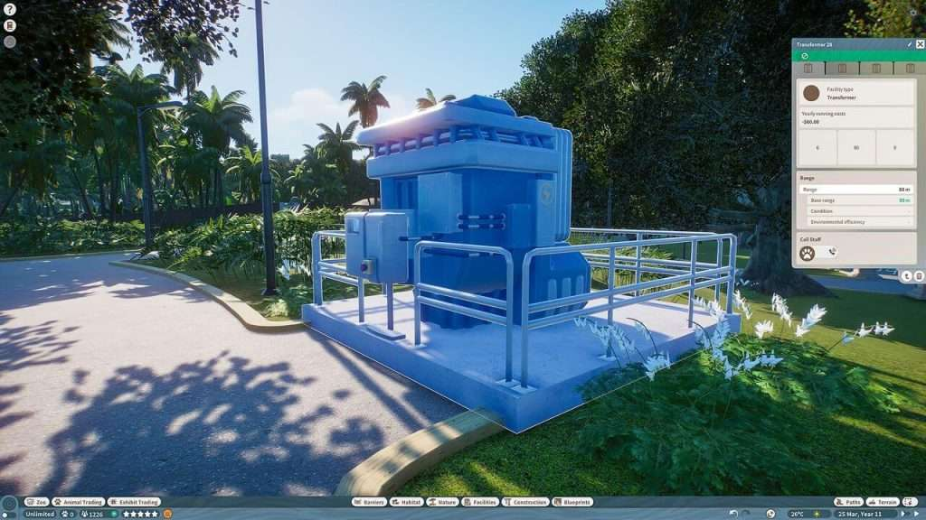 Planet zoo electricity transformer