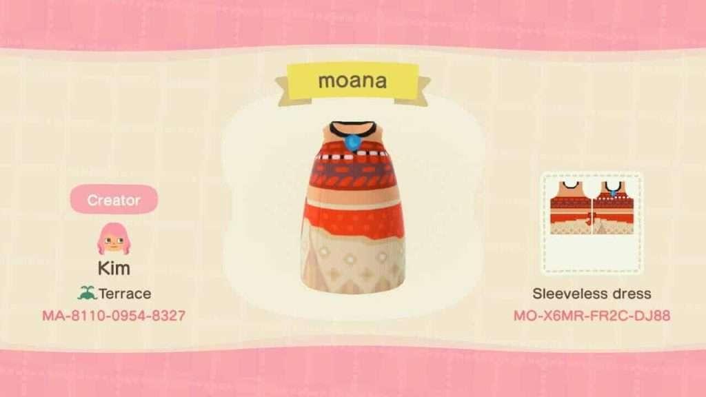 Animal Crossing New Horizons Moana
