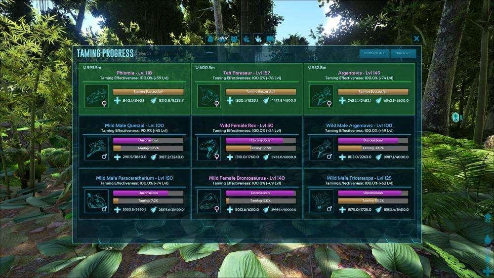 Ark Taming UI