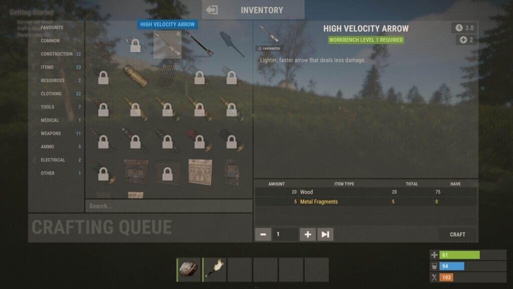 Rust crafting guide noobs